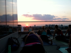 Find a free rooftop yoga class.